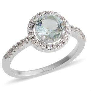 Simulated Green Dia. Simulated White Diamond